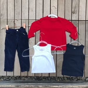APPAMAN INK Lot of 4 2T Item Blue Corduroy Outfit